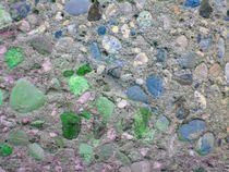 Betonwand grün und blau von Martin Müller
