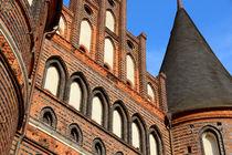 Lübecker Holstentor Turmspitze von fotowelt-luebeck