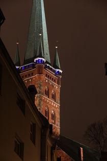 Der Kirchturm von St. Petri von fotowelt-luebeck