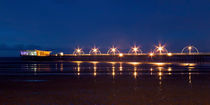 Southport Pier at Night by Roger Green