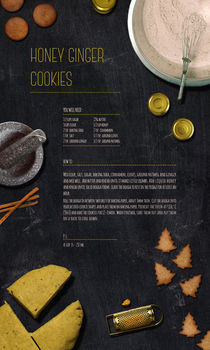 Honey Ginger Cookies by Egle Beliunaite
