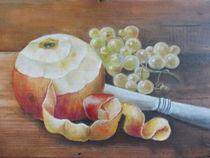 geschälter Apfel von Dorothy Maurus
