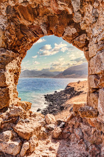 The view from the castle in Monemvasia, Greece by Constantinos Iliopoulos