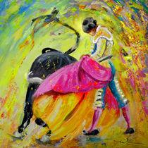 Bullfighting in Neon Light 01 von Miki de Goodaboom
