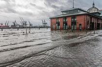 Hochwasser am Fischmarkt XI von elbvue von elbvue