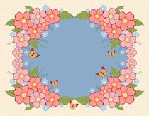 Beautiful floral background with place for text von larisa-koshkina