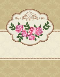 Vector card with roses. Background with space for text. von larisa-koshkina