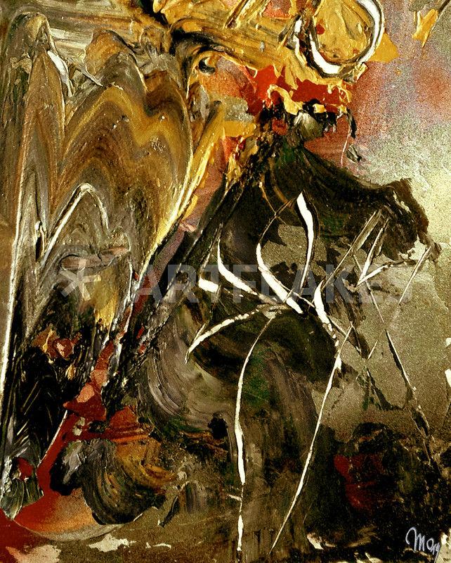 """""""sonne mond und sterne"""" malerei als poster und kunstdruck"""