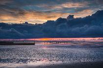 Sonnenuntergang an der Nordsee bei Ebbe von bildwerfer