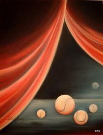 Tenniszirkus, Tennisbild .... Sport - Kunst von Edeltraut K.  Schlichting