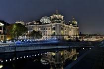 Lichtgrenze, 25 Jahre Mauerfall, Reichstagsgebäude von Kurt Gruhlke