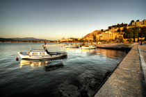 Nafplion Harbour at dusk  by Rob Hawkins