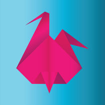 Pink Origami by Alessandro Aru
