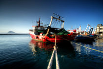 Trawlers at Patras  von Rob Hawkins