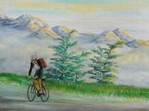 Radfahrer in den Alpen von Barbara Kaiser