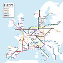 Europe Metropolitan Subway Map by Anders Dahl Eriksen