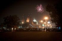 Delhi Tempel Feurwerk von Stefan Frank