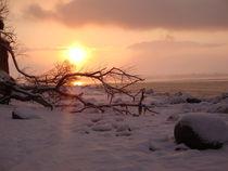 Winterabend am Strand von Ute Bauduin