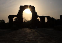 Qutab Minar Ruins At Sunset by Aidan Moran