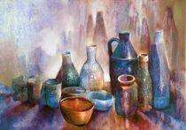 Stillleben mit blauer Schale - Variation 1 von Annette Schmucker