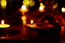 Bokeh of Candles by Banu Srini