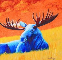 Meadow Moose by Keith Alway