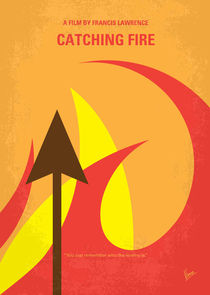 No175-2 My CATCHING FIRE - The Hunger Games minimal movie poster by chungkong