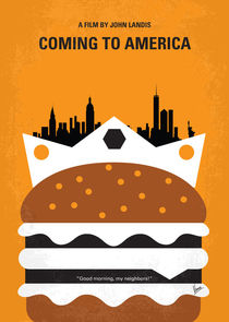No402 My Coming to America minimal movie poster von chungkong