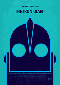 No406 My The Iron Giant minimal movie poster von chungkong
