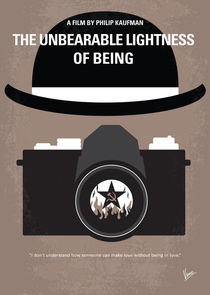 No408 My The Unbearable Lightness of Being minimal movie poster by chungkong