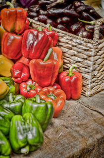 Piles of Peppers by Heather Applegate