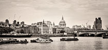 North Side of the Thames BW by Heather Applegate