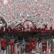 'London skyline abstract' by bekimart