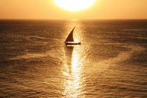 African Dhow At Sunset  von Aidan Moran