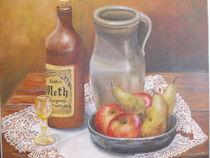 Stillleben mit Krug,Äpfel und Birnen von Dorothy Maurus