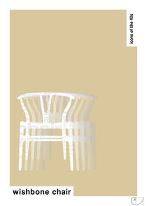 Wishbone Chair / Design Icons of the 40s / Classic Pantone Poster by patricon