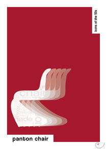 Panton Chair / Design Icons of the 50s / Classic Pantone Poster von patricon