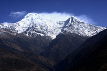 Annapurna South And Hiunchuli Mountains by Aidan Moran