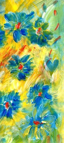 Flowers Blue by claudiag