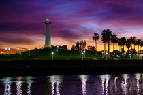 Lighthouse, Long Beach Harbour von Richard Kwinter