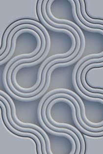 Schlangenlinie blau by dresdner