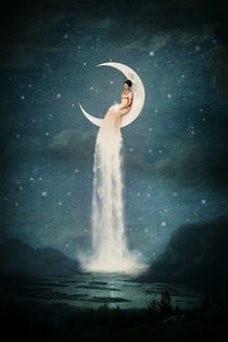 Moon River Lady von Paula  Belle Flores