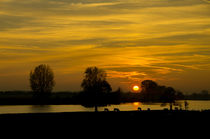Maas-river-sunset