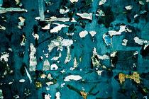 Collage of paper over wooden surface von Marc Solermarce