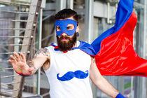 Hipster Superhero von Pier Giorgio  Mariani