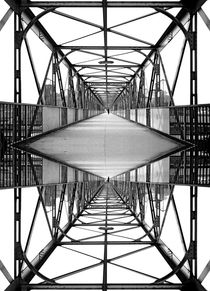 Mirror worlds - iron footbridge by Leopold Brix