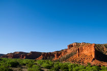 Caprock Canyon under a clear blue sky by Engeline Tan