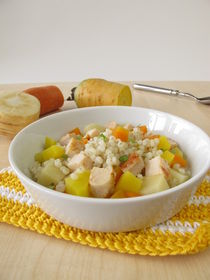 Gemüse mit Perlgraupen und Huhn von Heike Rau