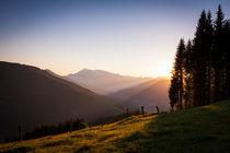 Sonnenuntergang Reitlehenalm von Lukas Kirchgasser