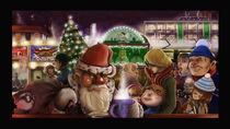 Weihnachtsmann auf dem Weihnachtsmarkt by Manuel Nagel